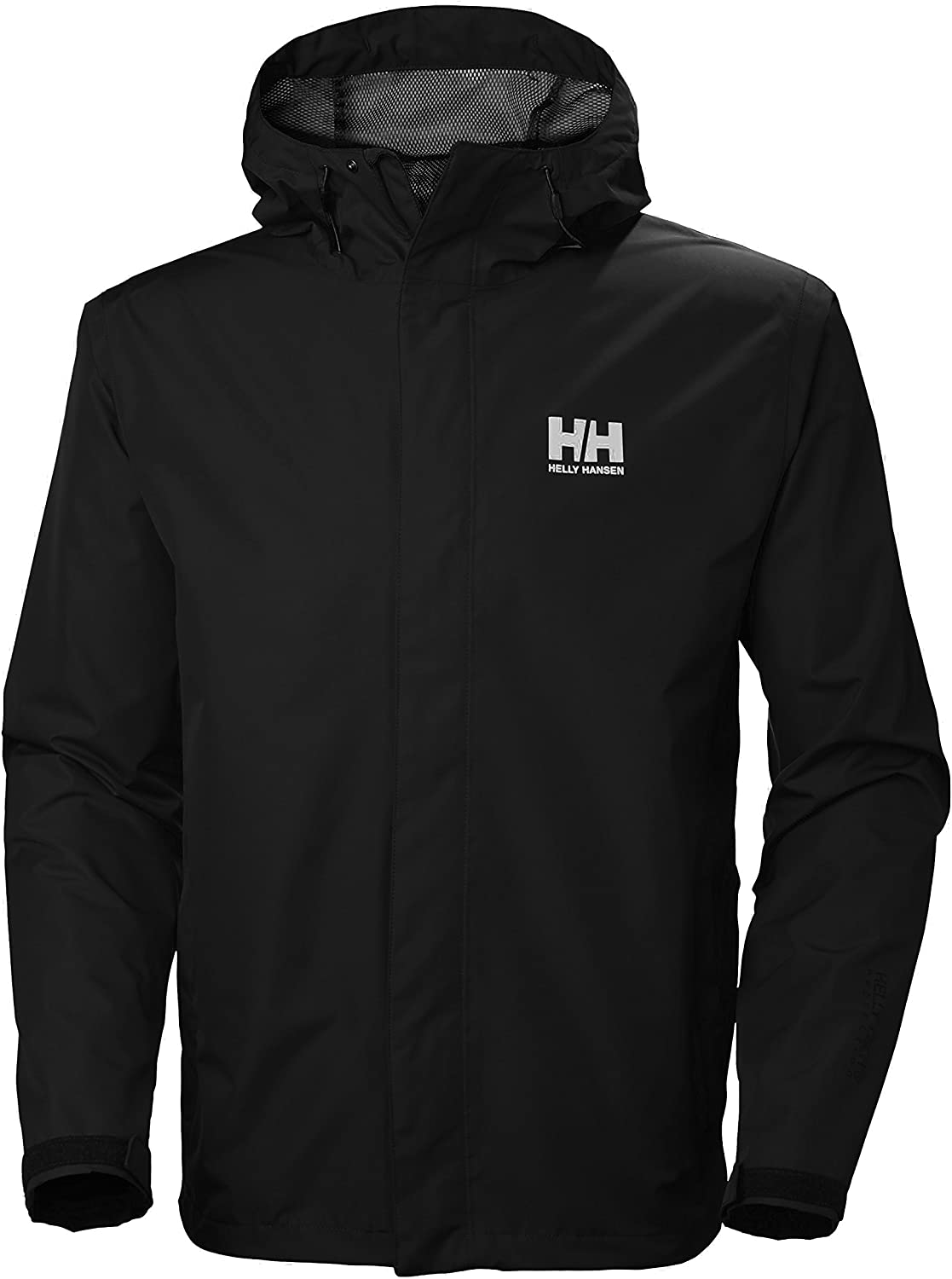 Helly Hansen Men's Seven J Waterproof, Windproof, and Breathable Rain Jacket with Hood : Clothing