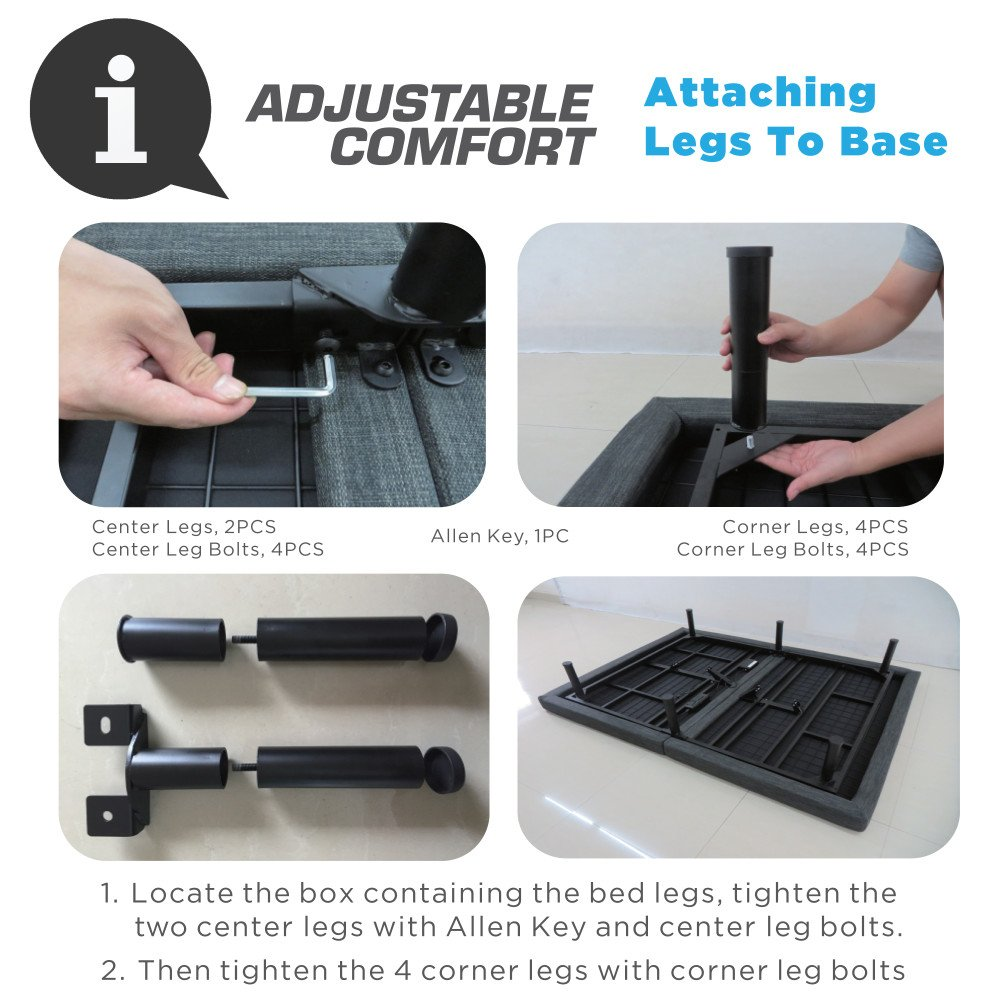 Classic Brands Adjustable Comfort Adjustable Bed Base with Massage, Wireless Remote and USB Ports by Classic Brands (Image #13)