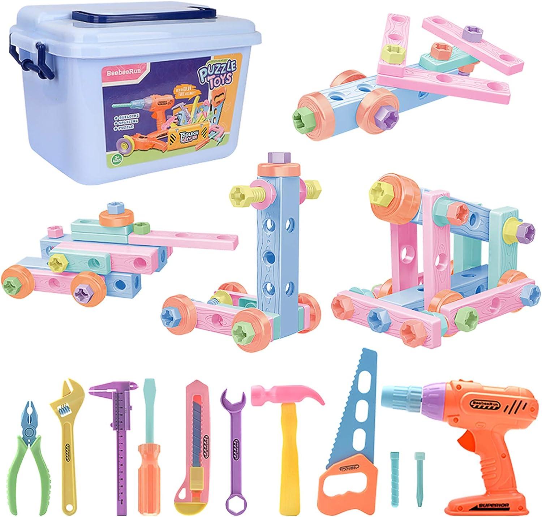 BeebeeRun Herramientas de Juguete para Niños,Caja Herramientas Juguete Juegos de Imitación Niño Regalo Educativo de Juguete para Niños Niñas 4 5 6 años de Edad