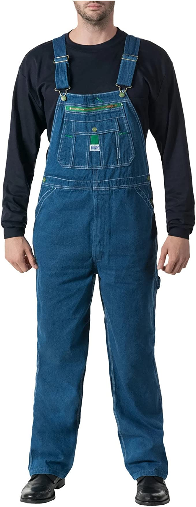 MOV14006 Liberty Relaxed Fit Stone Washed Bib Overalls