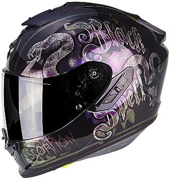 Scorpion Casco Moto exo-1400 Air blackspell Chameleon, multicolor, talla XXL