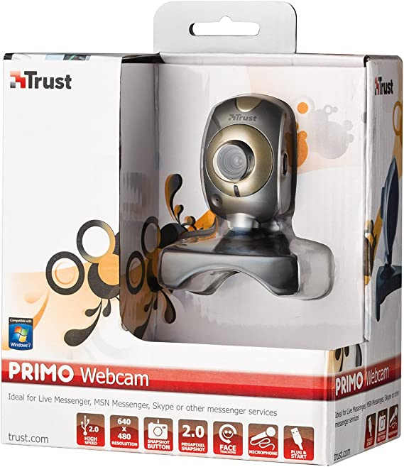 Amazon Co Jp 640 X 480 2 Mp Trust Primo Webcam For Pc Laptop Grey Electronics Cameras
