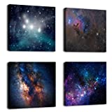 Amazon Price History for:Natural art –Outer Space Starlight Wall Painting Prints on Canvas Wall Decoration Wooden Frames Canvas 4pcs/set