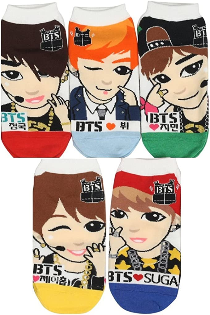 BigHit Entertainment - Calcetines - para mujer BTS Socks 5 Pack + ...