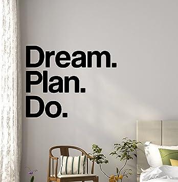 Plan De Dream Do Sticker Mural Bureau Citation De Motivation