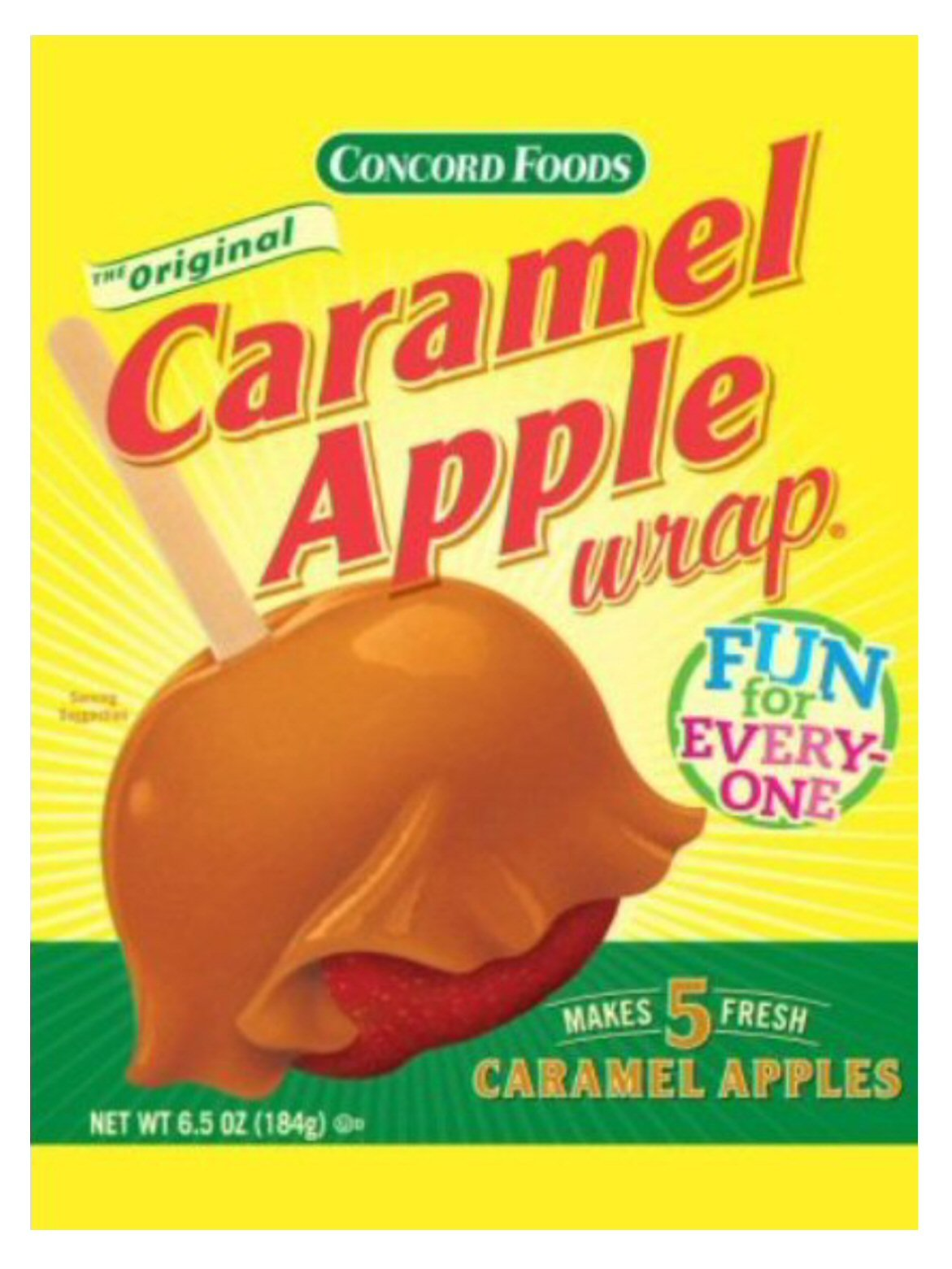 Concord Caramel Apple Wrap, 6.5-Ounce Wraps (VALUE Pack of 24 Packages) by Concord Global Trading