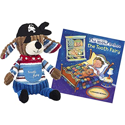 Maison Chic Patch The Pirate Dog Stuffed Animal Tooth Fairy Pillow with The Night Before The Tooth Fairy Book Gift Set: Toys & Games [5Bkhe0504232]
