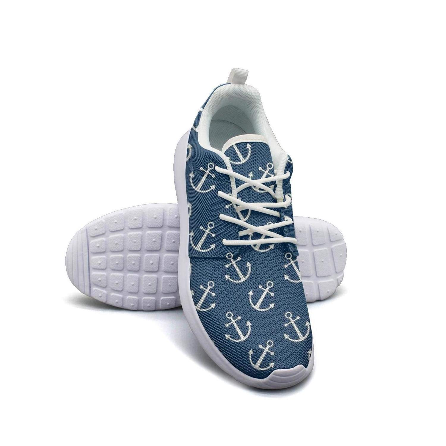 Anchor and Seashell Pattern Mans Flat Bottom Casual Shoes Sneakers Care Sneakers