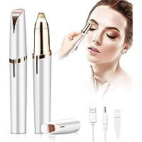 Depiladora Cejas, Maquinilla de afeitar de cejas portátil indolora con luz y carga USB, depilación facial de cejas…