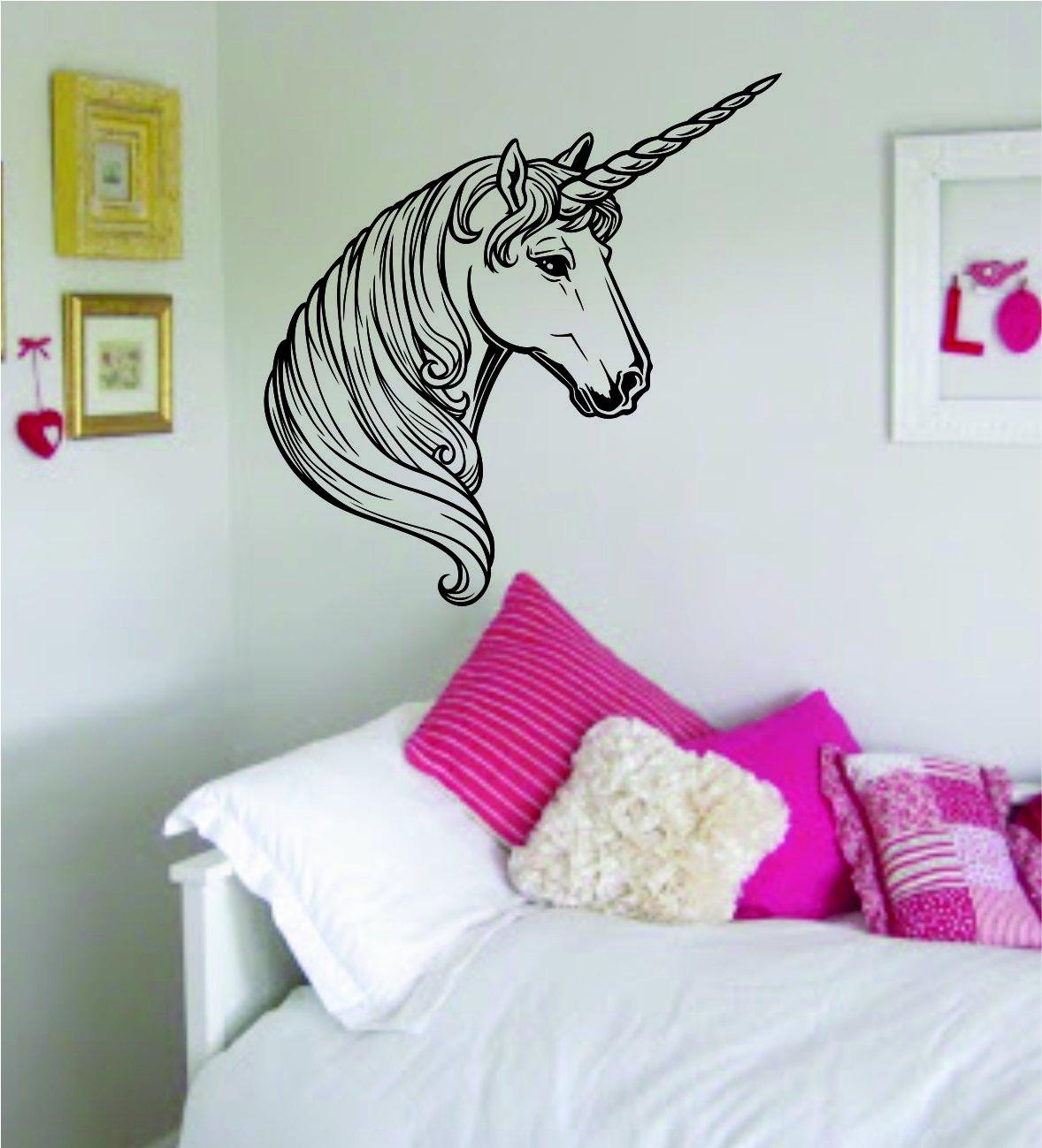 amazon com unicorn decal sticker wall vinyl art animal teen girl amazon com unicorn decal sticker wall vinyl art animal teen girl home kitchen