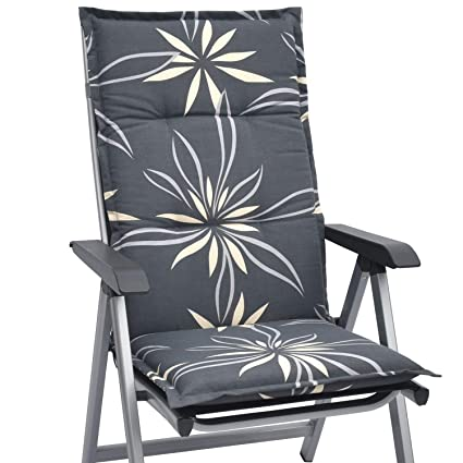 Beautissu Cojín sillas Asientos Respaldo Alto de jardín Loft ...