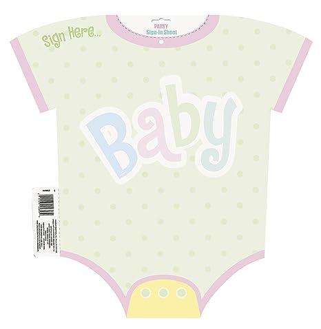 Amazon Polka Dot Baby Shower Sign In Sheet Decoration Kitchen
