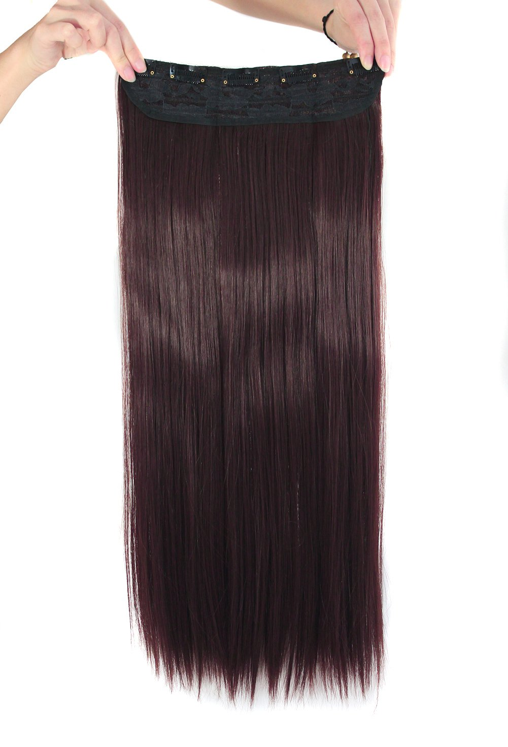 Amazon Mapofbeauty 24 Long Straight 5 Clip Hair Extensions