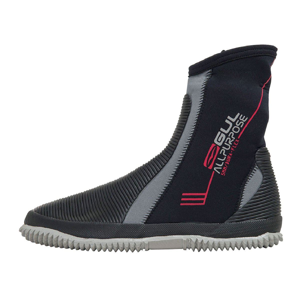 Gul Juniorすべて目的ブーツ2017 – 5 mmウェットスーツブーツ – ブラックグレー B0147GTQLQ UK Size 4