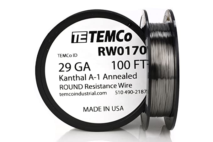 Temco Kanthal A1 Draht 29 Gauge Widerstand AWG A-GA, 29 AWG, 100 ft ...