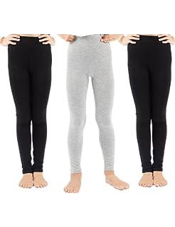 d78b26fb7900ba WEWINK PLUS 3 Pack Girls Solid Leggings Pants Classic Leggings for Kids