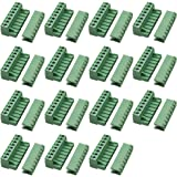 PCB Mount Screw Terminal Block Kit YILEGOU 15 Pairs 6 Pin Right Angle for Arduino PCB Shield AC 300V 10A,5.08mm Pitch,Plug-in Type