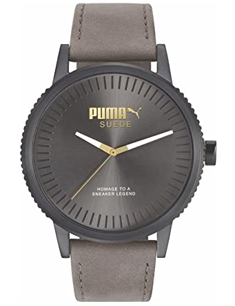 089e113d9a3 Amazon.com  Puma Suede Men Grey Leather watch-PU104101008  Watches