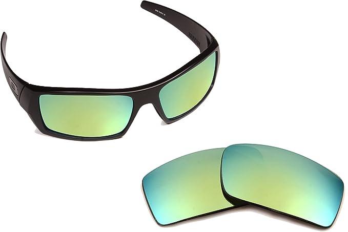 New Oakley Gascan polarizadas Verde Espejo Lentes de Policarbonato de repuesto