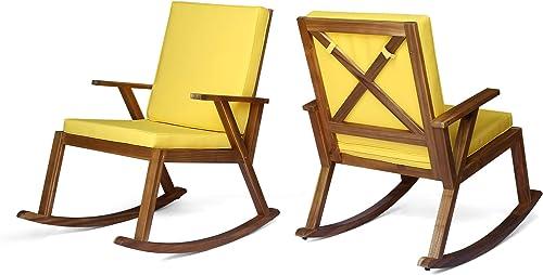 Champlain Outdoor Acacia Wood Rocking Chair