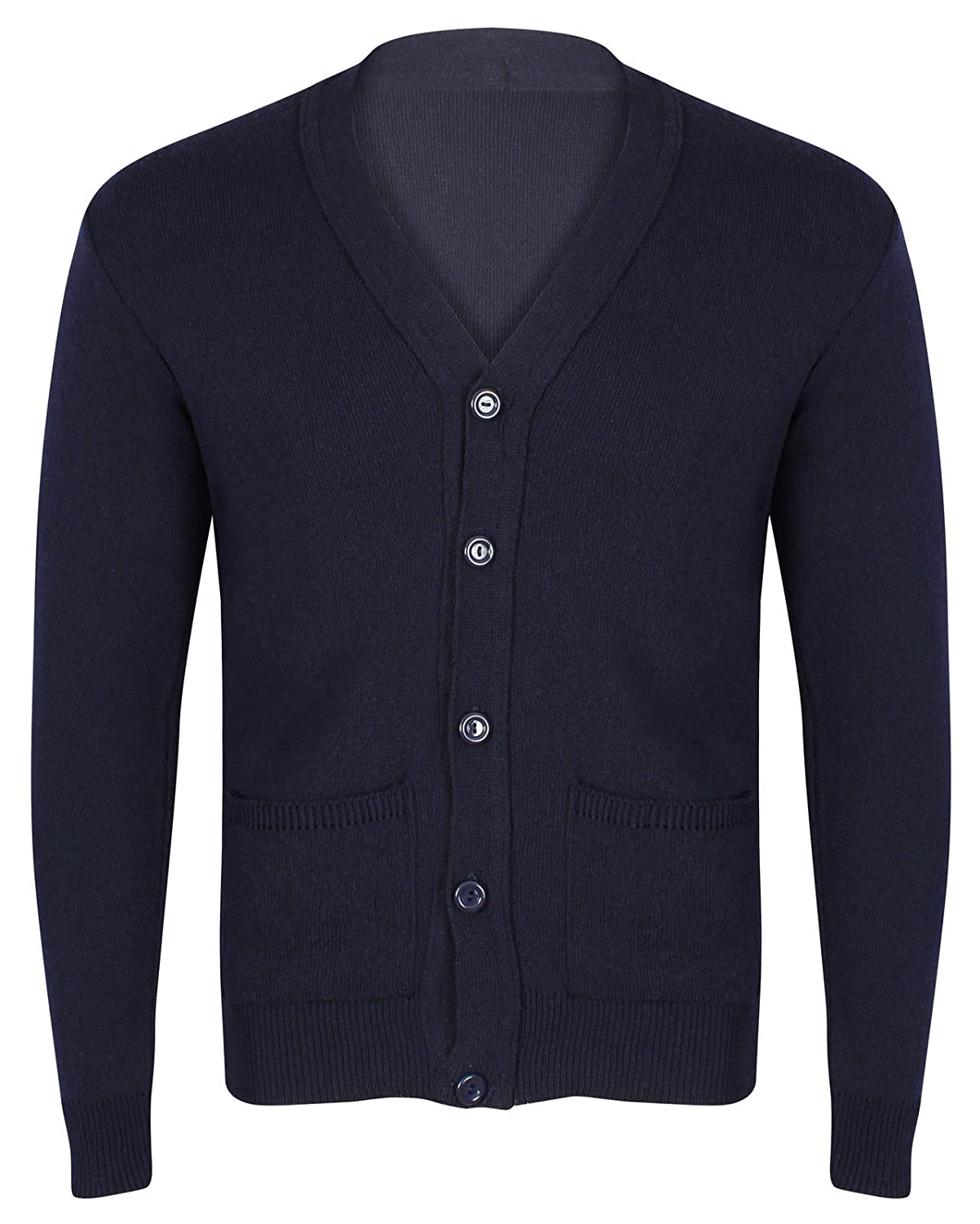 Full Sleeve Plain Mens Button Fastened Cardi. Casual and Smart Buttoned Cardigan Black Navy Grey Beige