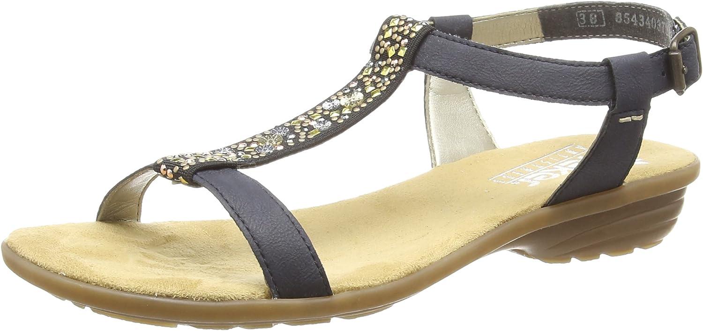 Rieker Damen Sandale blau Größe 38  V3484-14 Damen Sommer Sandalette