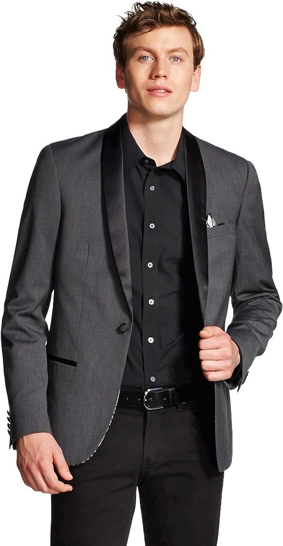 WD NY Men's Satin Collar Tuxedo Jacket