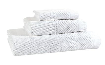 Toalla Ducha Toalla Terciopelo Jacquard color blanco 70 x 140 cm | 100% algodón |