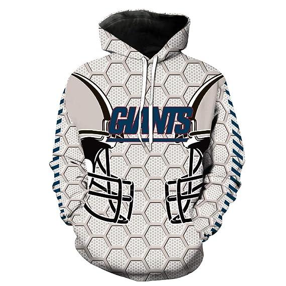 0b51ff603 Men s Hooded Long Sleeve 3D Digital Print New York Giants Football Team  Sports Pullover Hoodies(