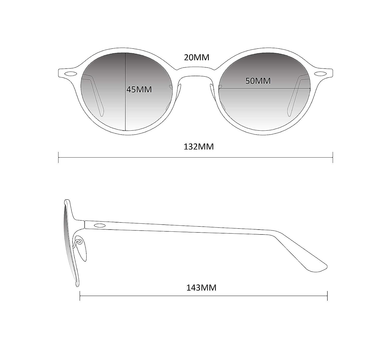 47f396615a9 Amazon.com  WearMe Pro - Geometric Round Gold Frame Retro Sunglasses (Black  Frame Black Lens