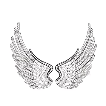 Acrylic Angel Wings Wall Decor, Set Of 2 Part 38