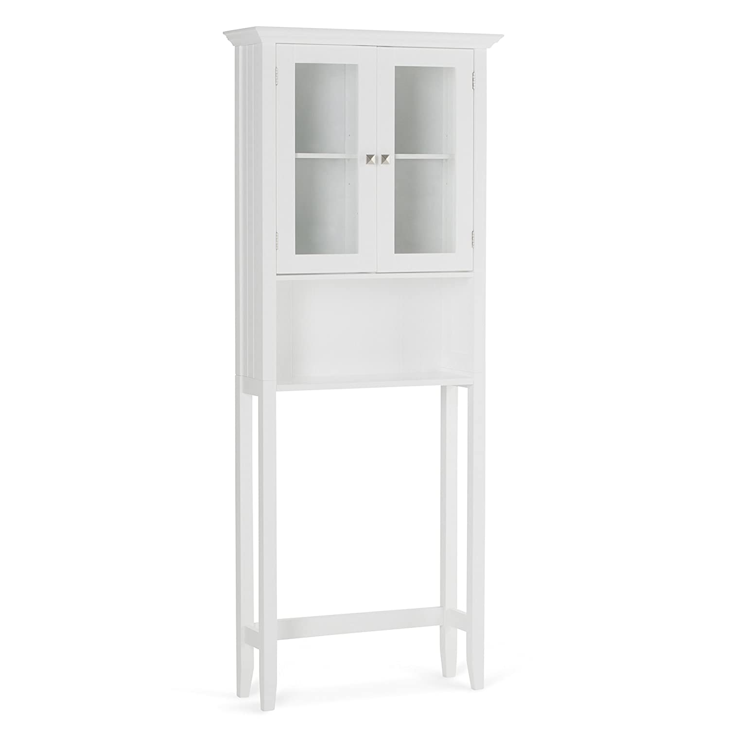 Simpli Home Acadian Space Saver Cabinet, White AXCBCACA-06