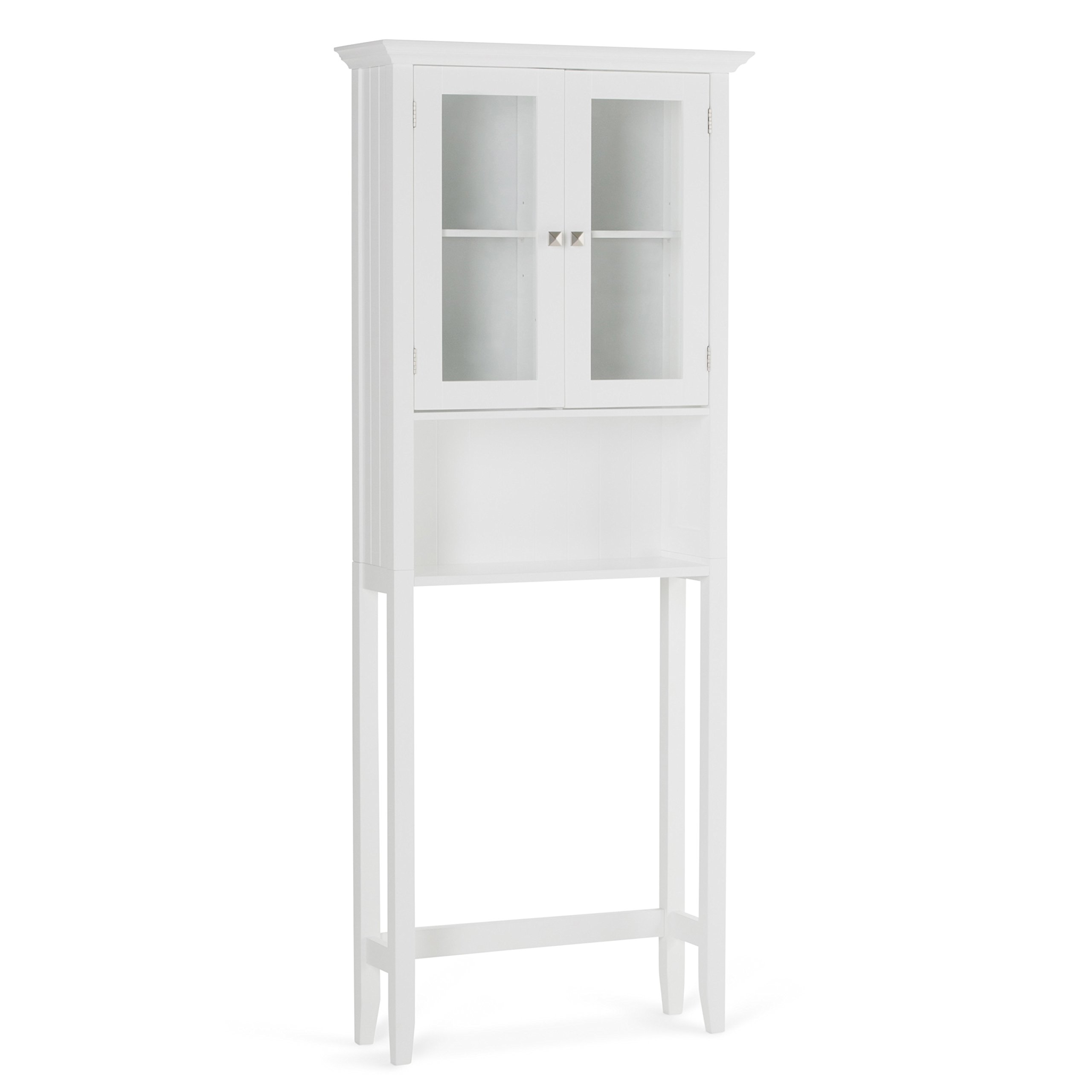Simpli Home Acadian Space Saver Cabinet, White