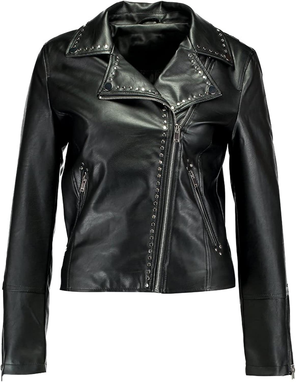 Koza Leathers Womens Lambskin Leather Biker Jacket KN283