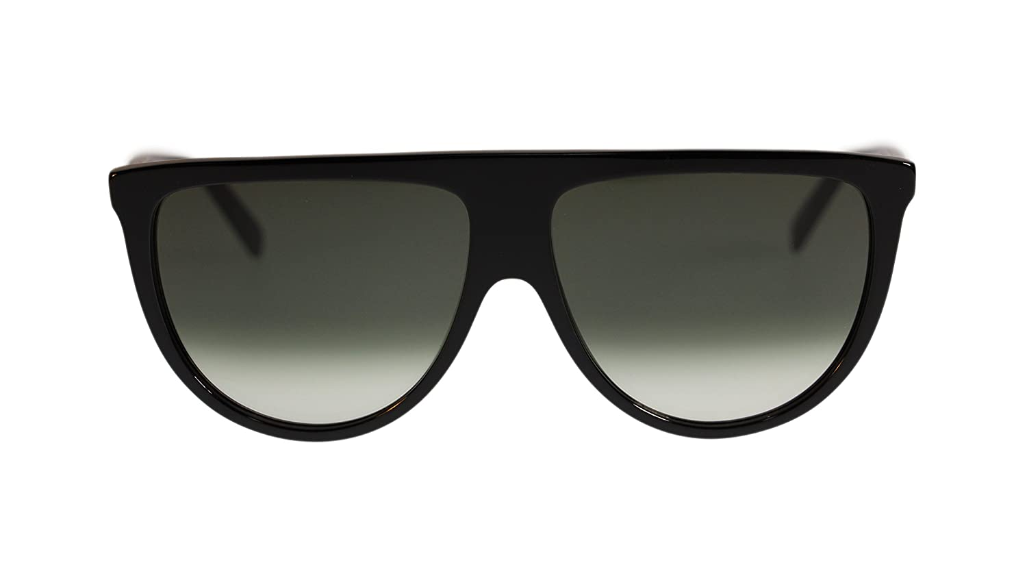 c27e51ba2e14 Celine Thin Shadow Womens Sunglasses CL41435 807 Black Green Gradient Lens  Round  Amazon.co.uk  Clothing