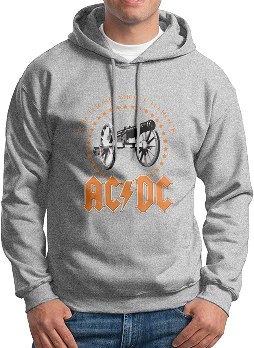 Mens Hoodie Sweatshirt ACDC for Those About to Rock Handsome Humor Tops Sweater Pullover Black