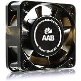 AAB Cooling Super Silent R4 - Un Silencioso y Muy Efectivo Ventilador 40mm con Adaptador de Bajo Ruido | Fan Cooler | Ventilador 12V Coche | Ventiladores 12V | 7,35 / 4,25 m3/h | 3200 / 1900 RPM