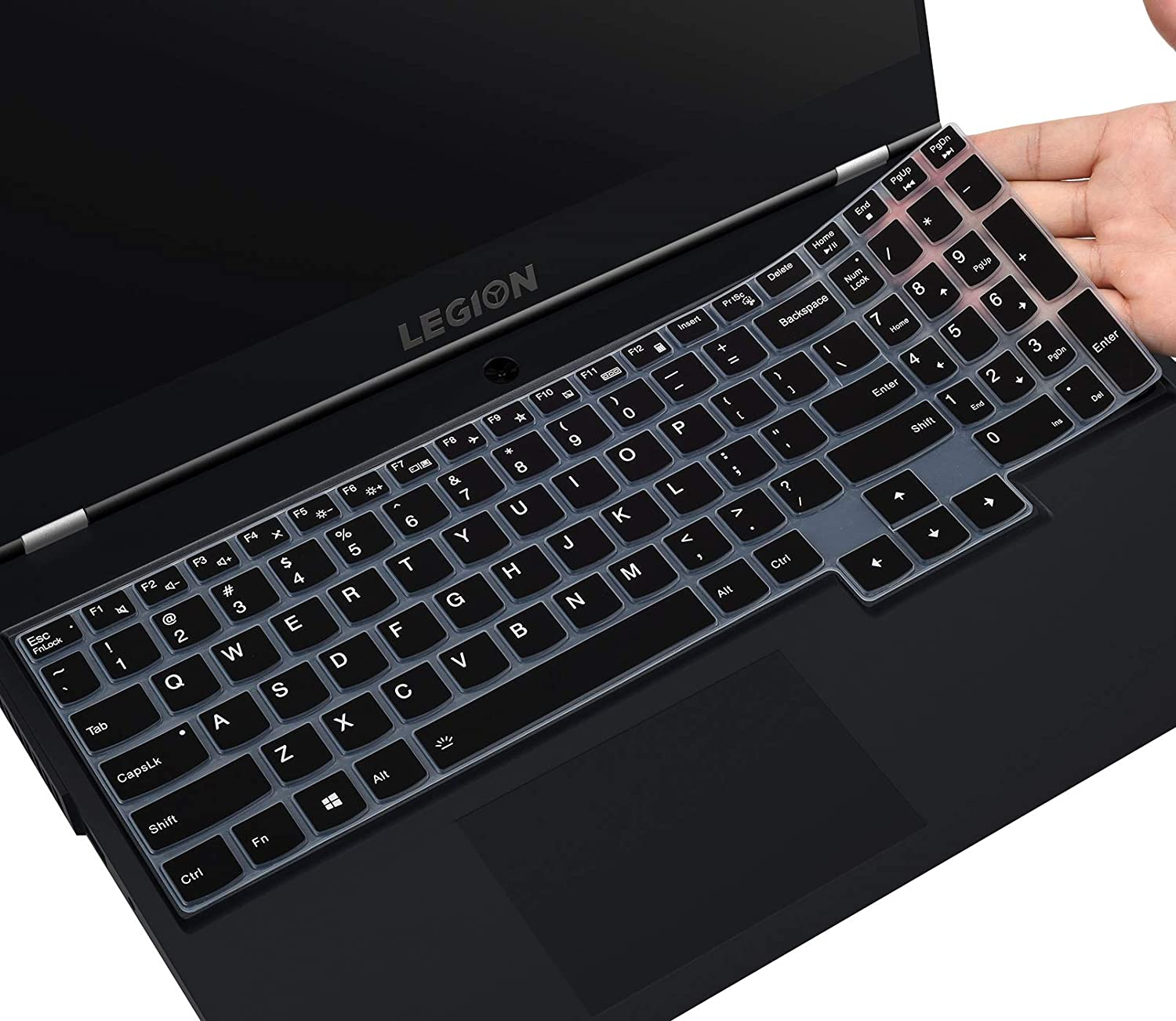 Keyboard Cover for Lenovo Legion 5 Gaming Laptop Legion 5 5i 5p 5pi 15.6 17.3 inch/Legion 7i Gaming Laptop/IdeaPad Gaming 3i Laptop, Legion 5 Keyboard Skin Protector, Black
