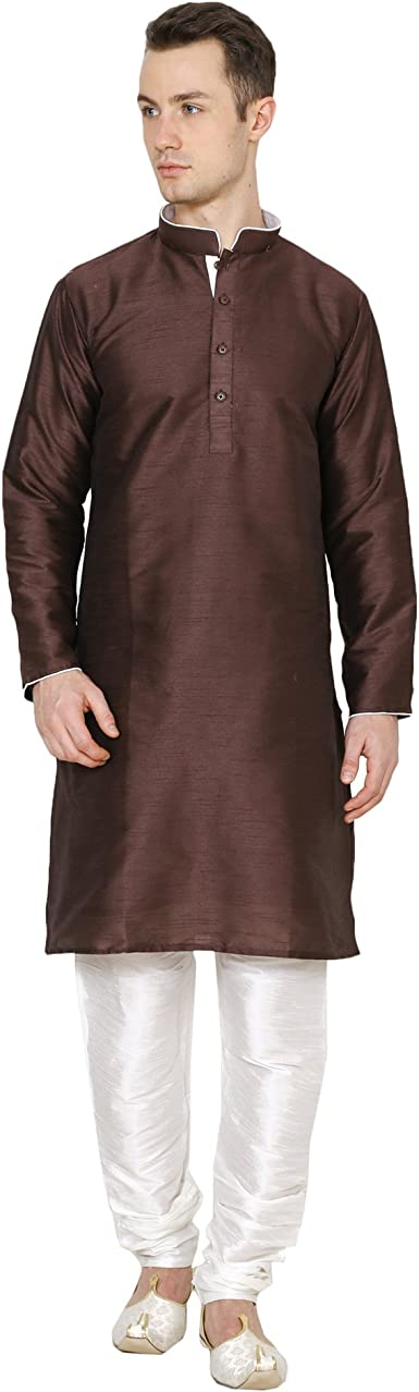Kurta Royal Ethnic Dupion - Pijama de Seda para Hombre ...