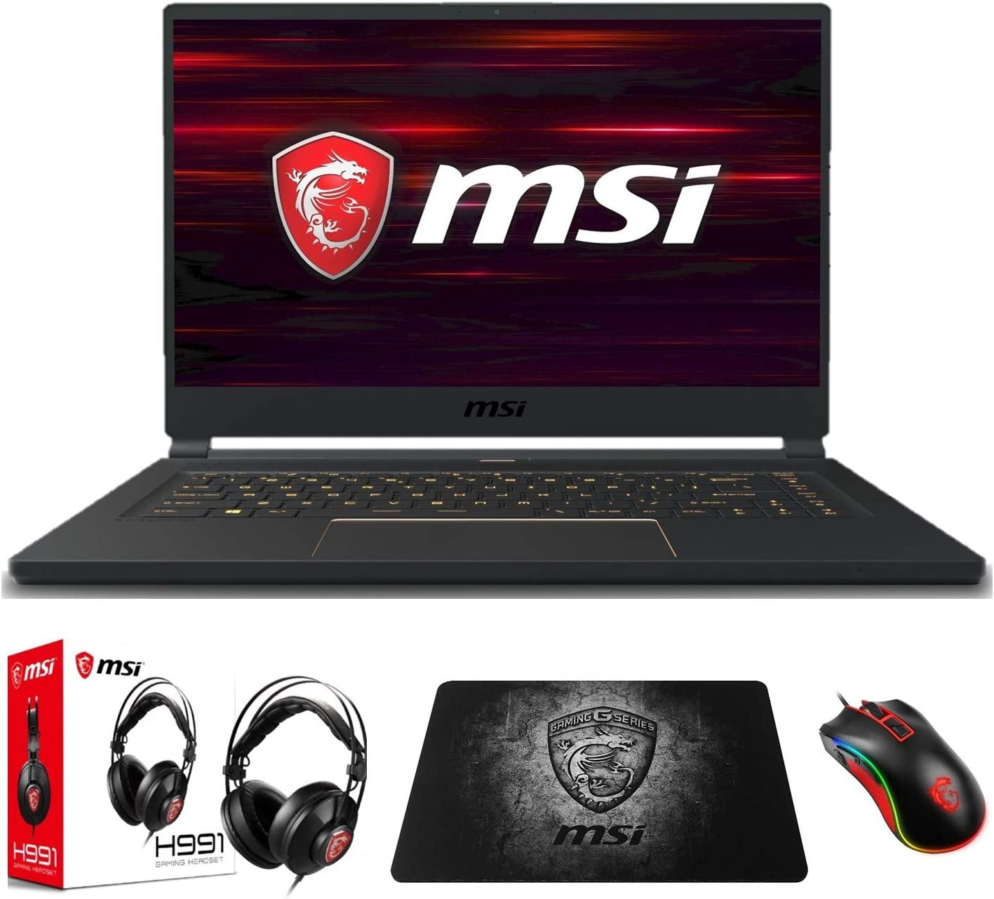 "MSI GS65 Stealth-1668 (i7-9750H, 16GB RAM, 512GB NVMe SSD, GTX1660Ti 6GB, 15.6"" Full HD 144Hz 3ms, Windows 10) VR Ready Gaming Notebook"