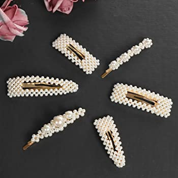6 Pices Pearl Hair Clip for Women Hair Pins