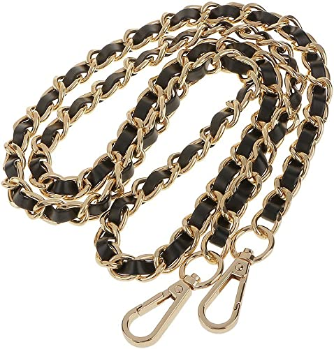 Synthetic Leather Metal Chain Replacement Interchangeable Shoulder Bag Strap Bag Accessories 47 Inch White