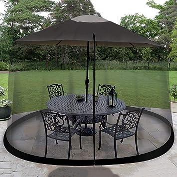 Yuany 7.5 pies al Aire Libre Pabellón del jardín Carpa Mosquitera Lateral, Cubierta de Paraguas Mosquitera con Puerta con Cremallera, Malla de poliéster: Amazon.es: Hogar