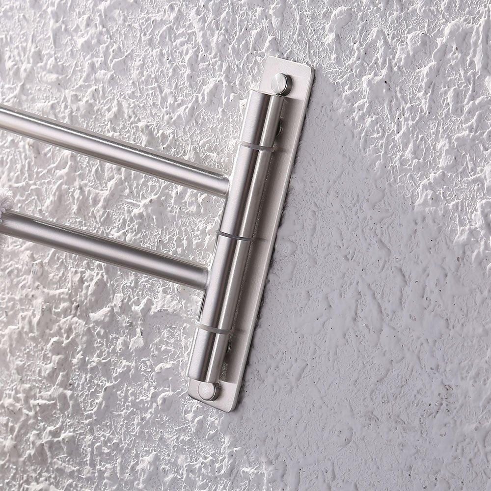 Kes Bathroom Swing Arm Towel Bars 2 Arm Wall Mount Swing