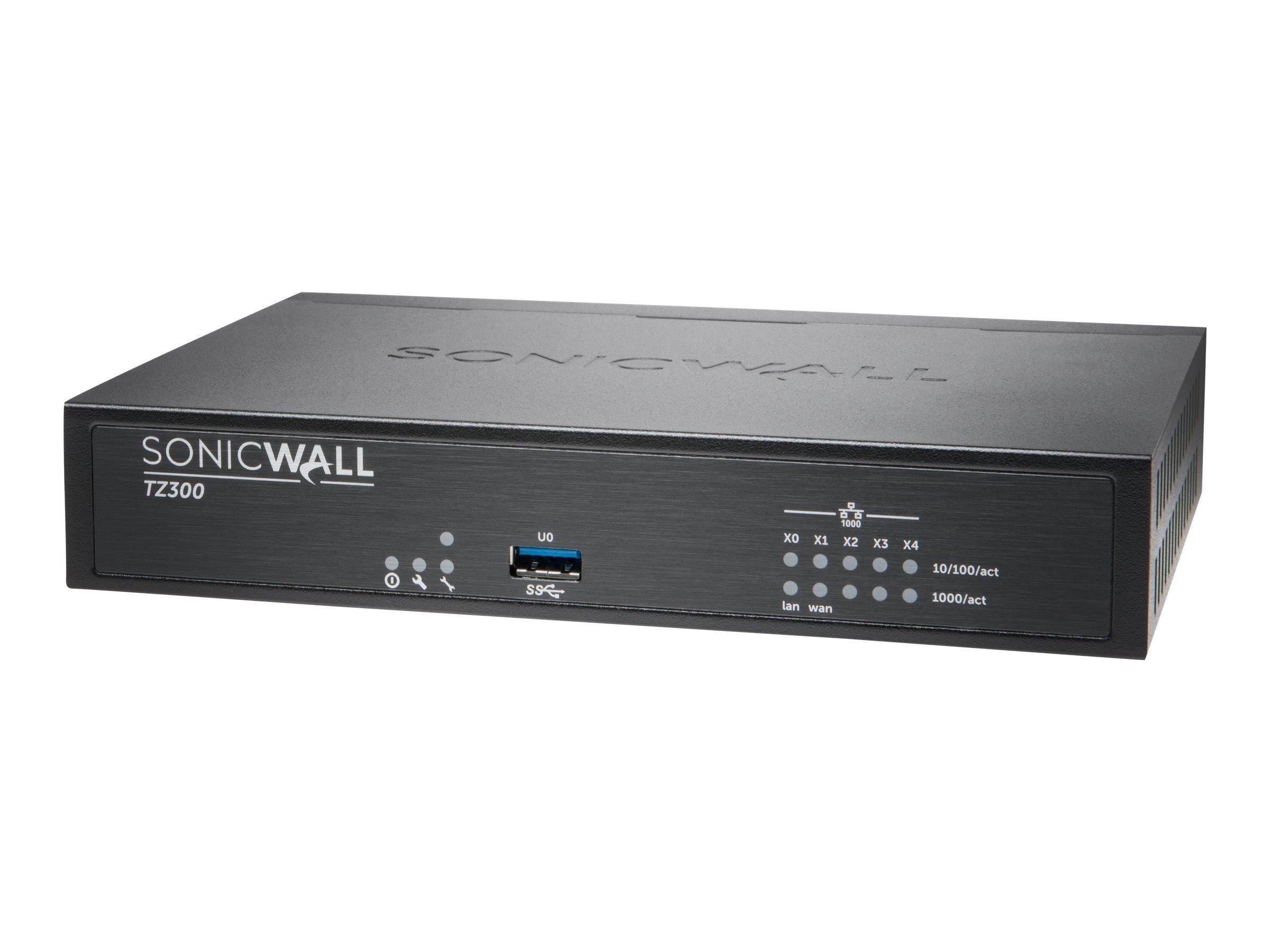 SonicWall TZ300 01-SSC-0215 VPN Wired Gen 6 Firewall Appliance (Hardware only) by Sonicwall