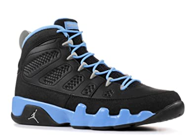 premium selection d9b86 d8766 Nike Mens Air Jordan 9 Retro Slim Jenkins Black Matte Silver Blue Leather  Basketball