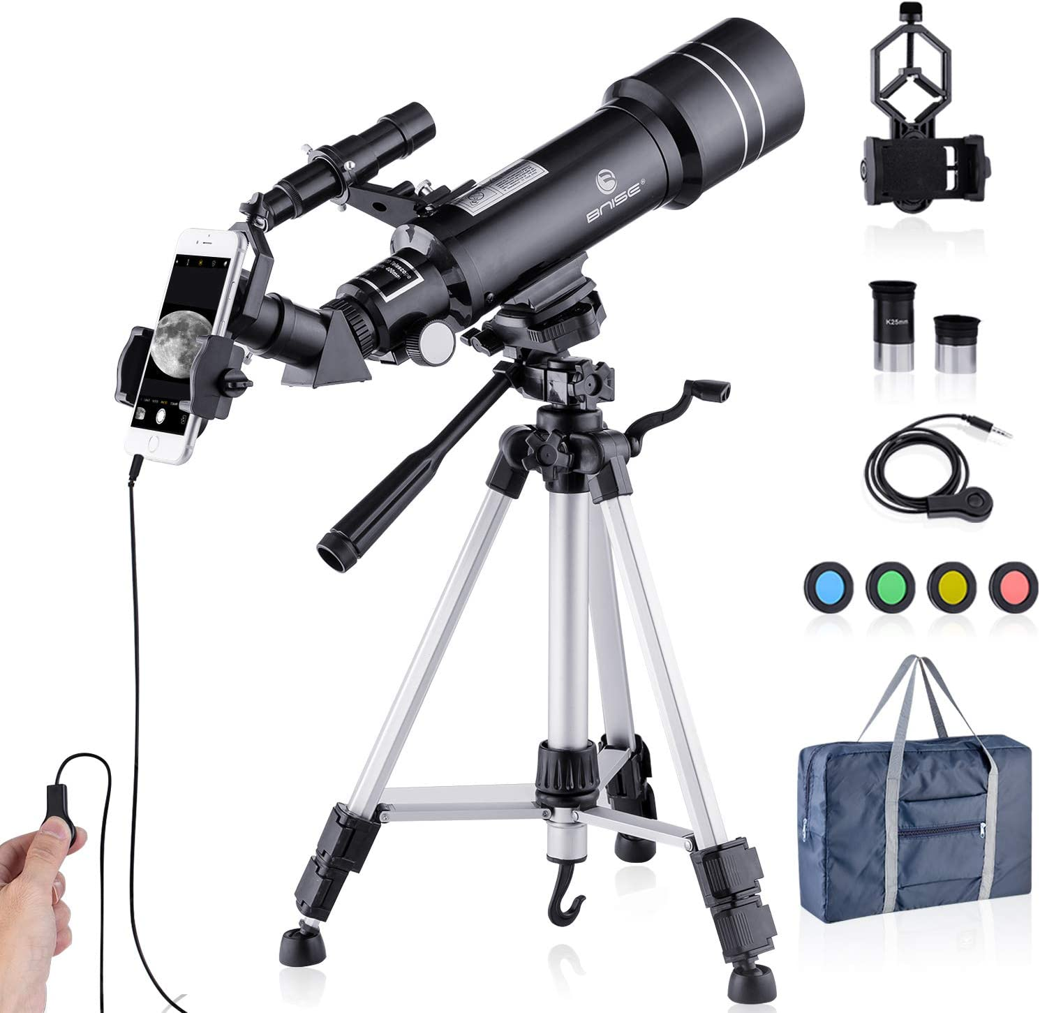 Upgraded Telescope HD 400//70mm Telescope for Kids Adults Refractor Astronomy Telescope Watching The Animals Bird Watching Viewing The City Scenery Watching The Moon Viewing The Natural Scenery