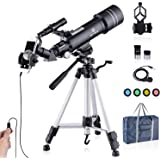 Upgraded Telescope HD 400/70mm Telescope for Kids Adults Refractor Astronomy Telescope - Watching the Moon, Bird Watching, Vi