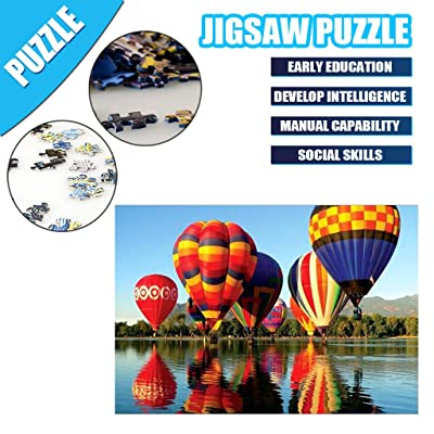 Goldweather Jigsaw Puzzles 1000 Pieces for Adults &Kids,Hot Air Balloon Puzzles,Entertainment DIY Toys Wall Hanging Decor (Multicolor): Kitchen & Dining