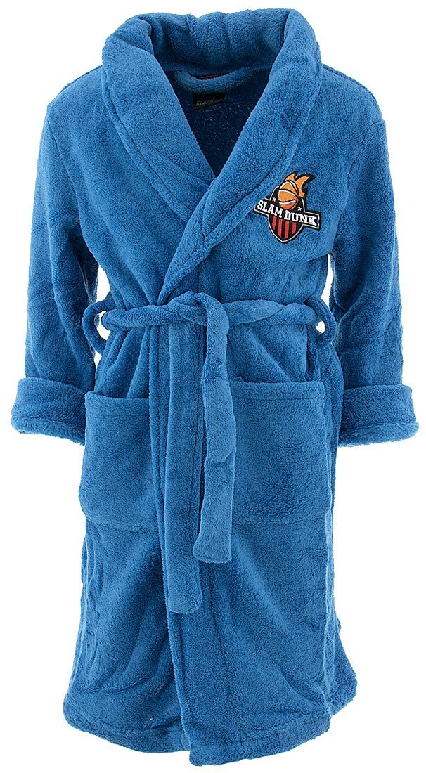 MacHenry Originals Little Boys' Blue Slam Dunk Bathrobe S/4-5